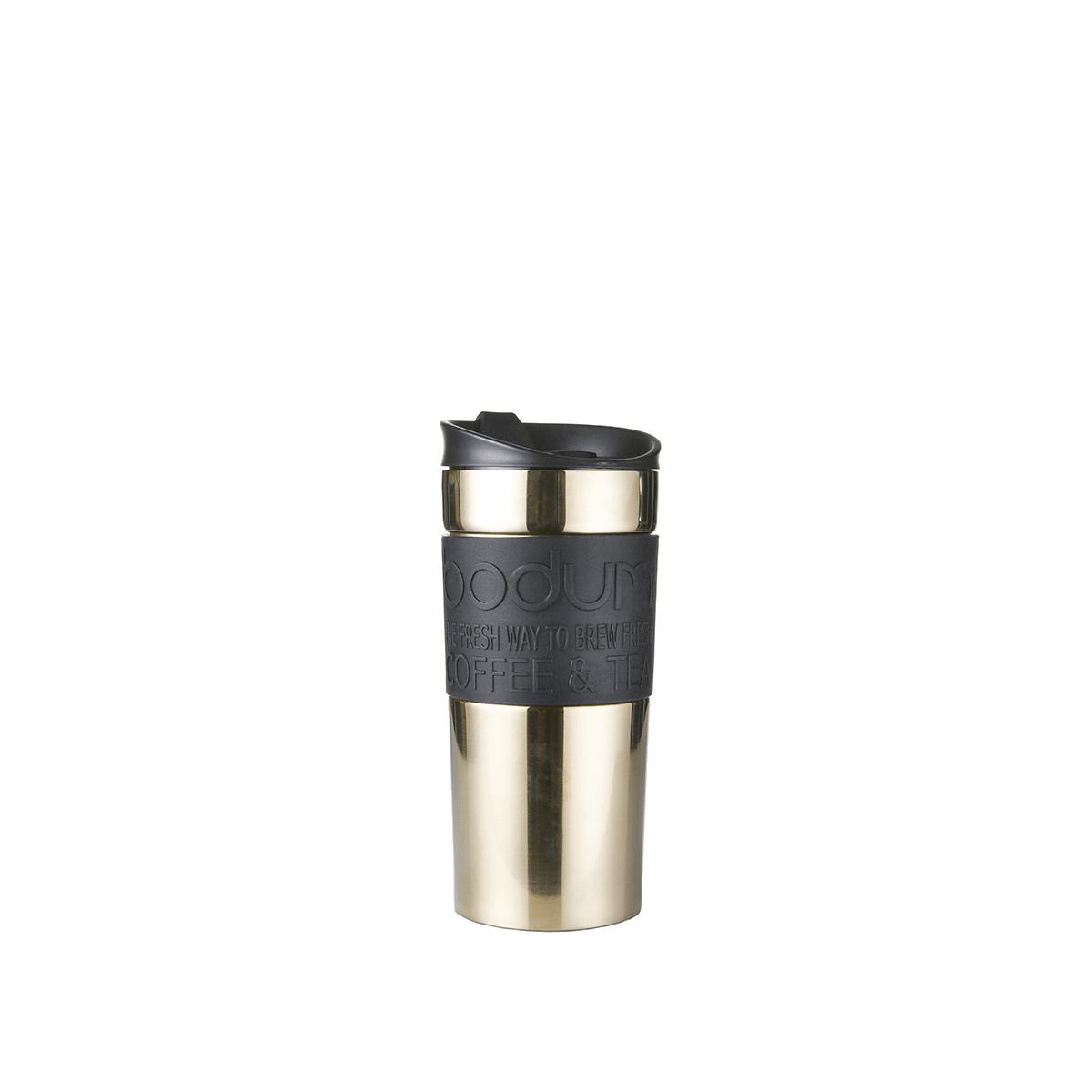 Double-walled insulated travel mug: Bodum® Travel Mug - Gold