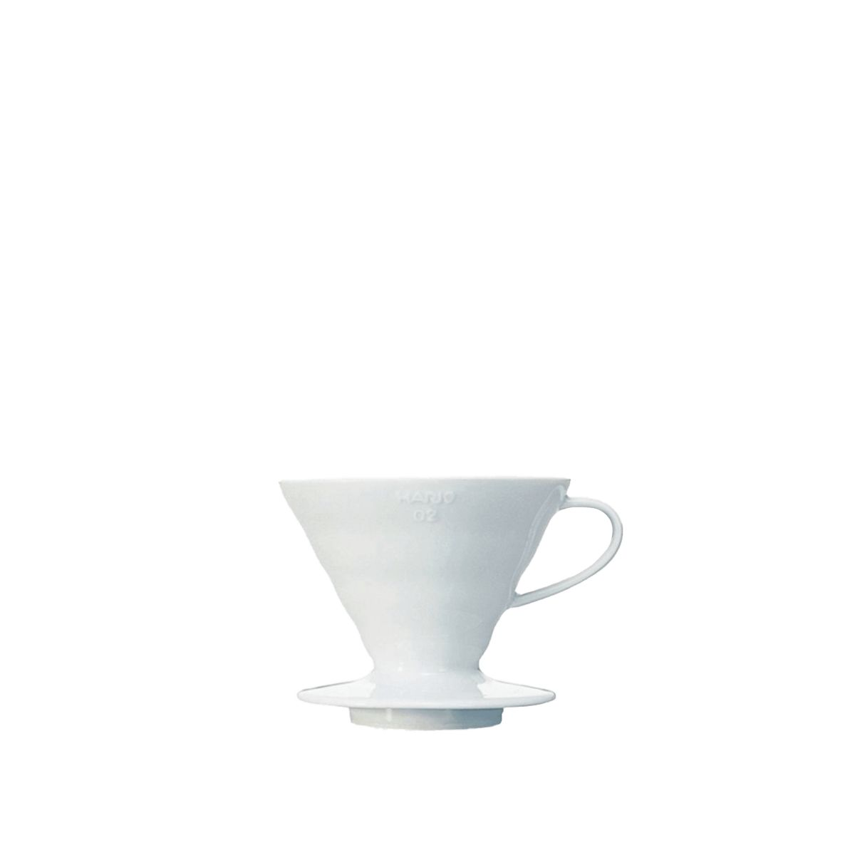 V60 Porcelain Dripper Hario [3/4 cups] - White