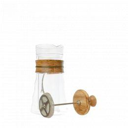 Kaffeebereiter mit Presskolben Hario, doppelwandig, aus Glas 400 ml