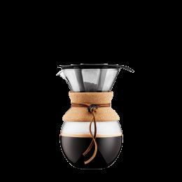 Kaffeebereiter mit Edelstahlfilter: Bodum® Pour Over – Kork