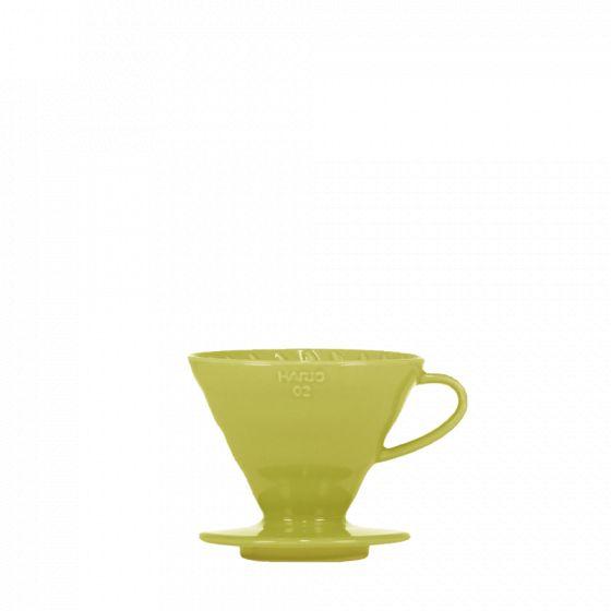 V60 dripper Hario porcelain [3/4 cups] - Light green