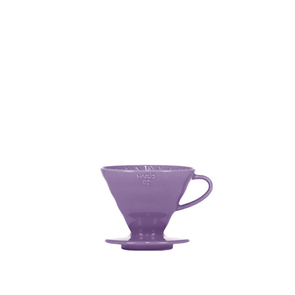 V60 Dripper Hario Porzellan [3/4 Tassen] - Violett